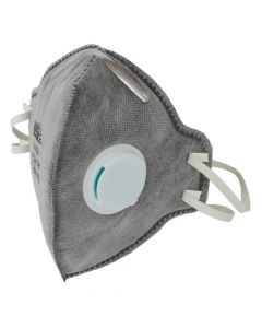 Grower's Edge Clean Room Vertical Fold-Flat Active Carbon Respirator Mask w/ Valve (10/Cs) Must buy 10